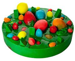 a por huevos b