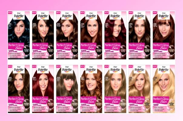 Carta de colores para el cabello palette